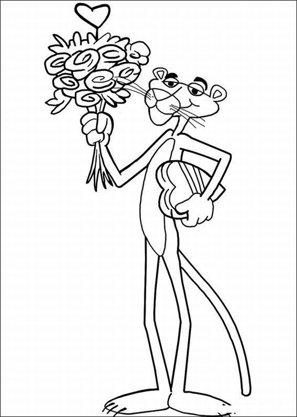 595x834 The Pink Panther Show Coloring Pages