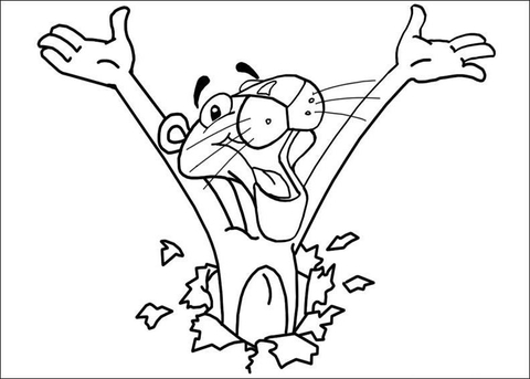 480x343 Here Comes Pink Panther Coloring Page Free Printable Coloring Pages