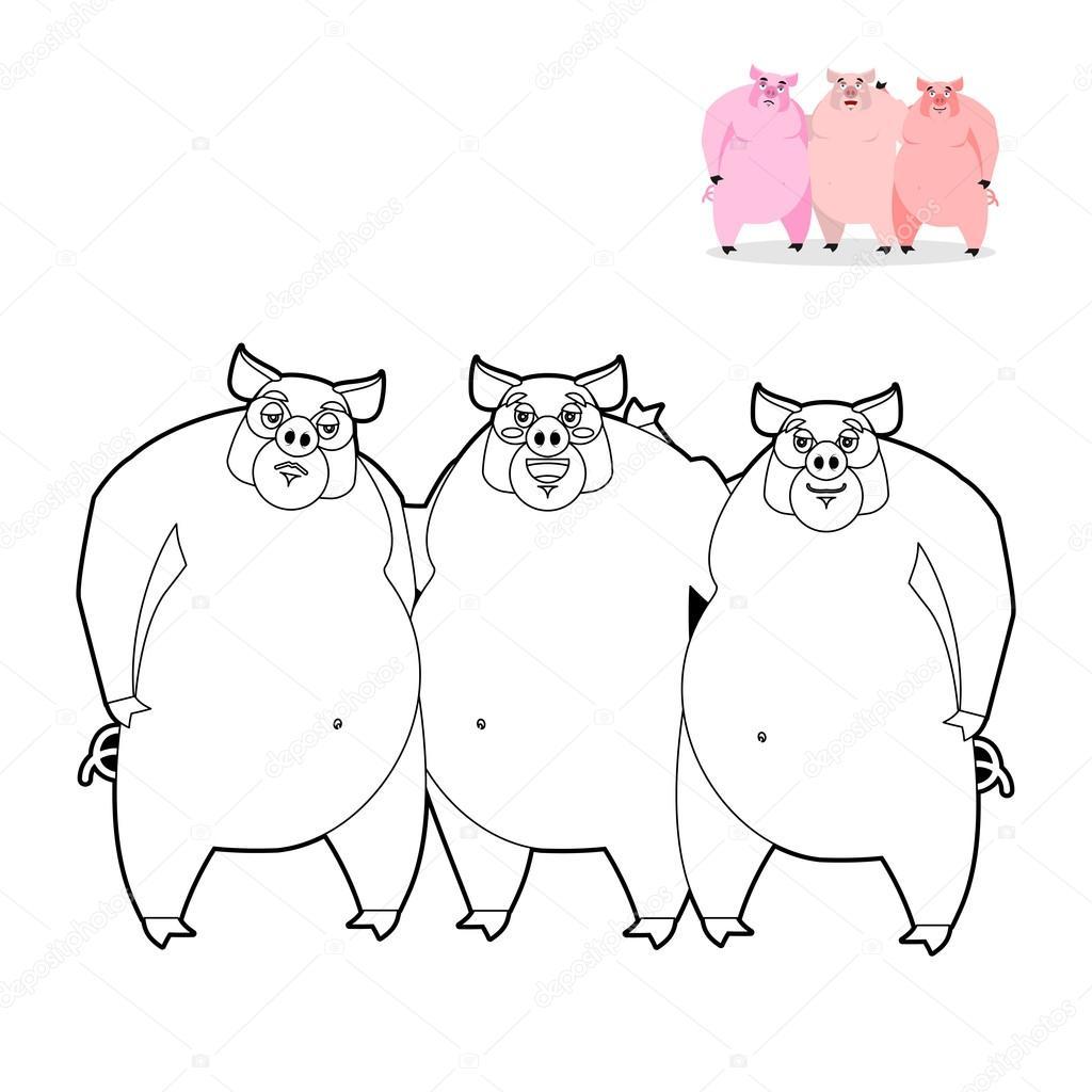 Pink Pig Drawing