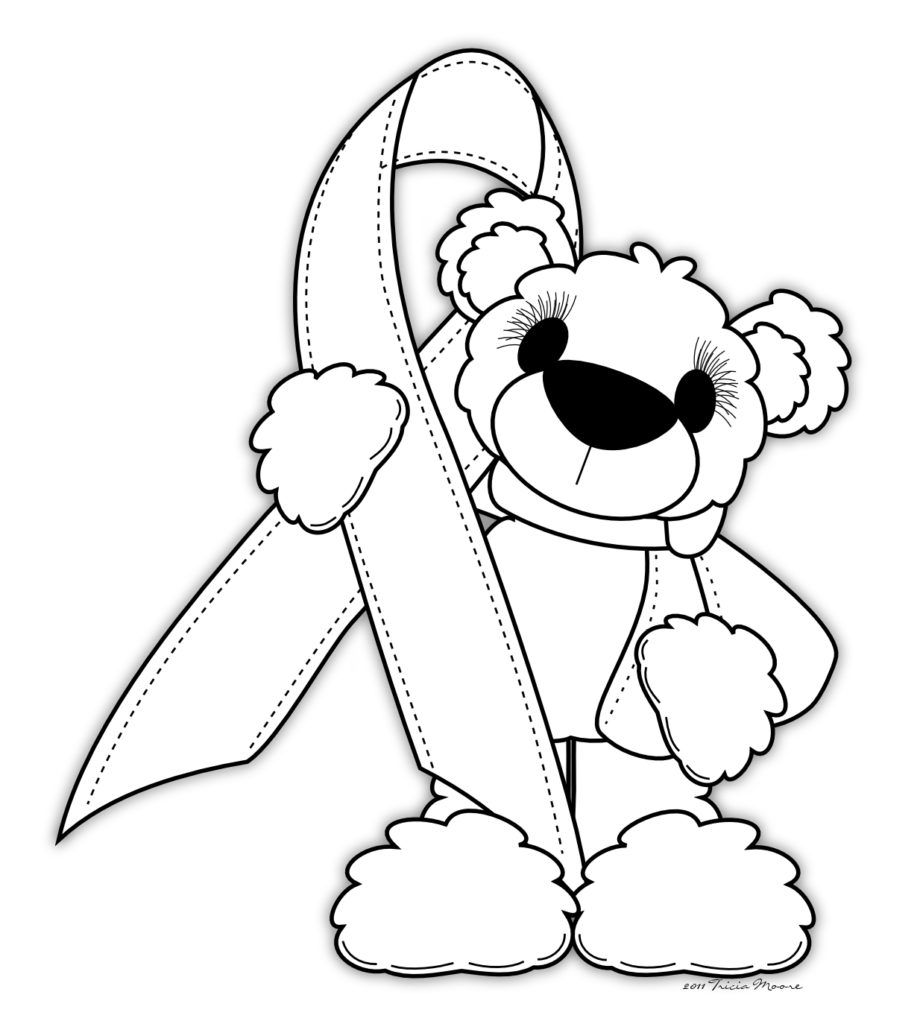 920x1024 Pink Ribbon Coloring Pages