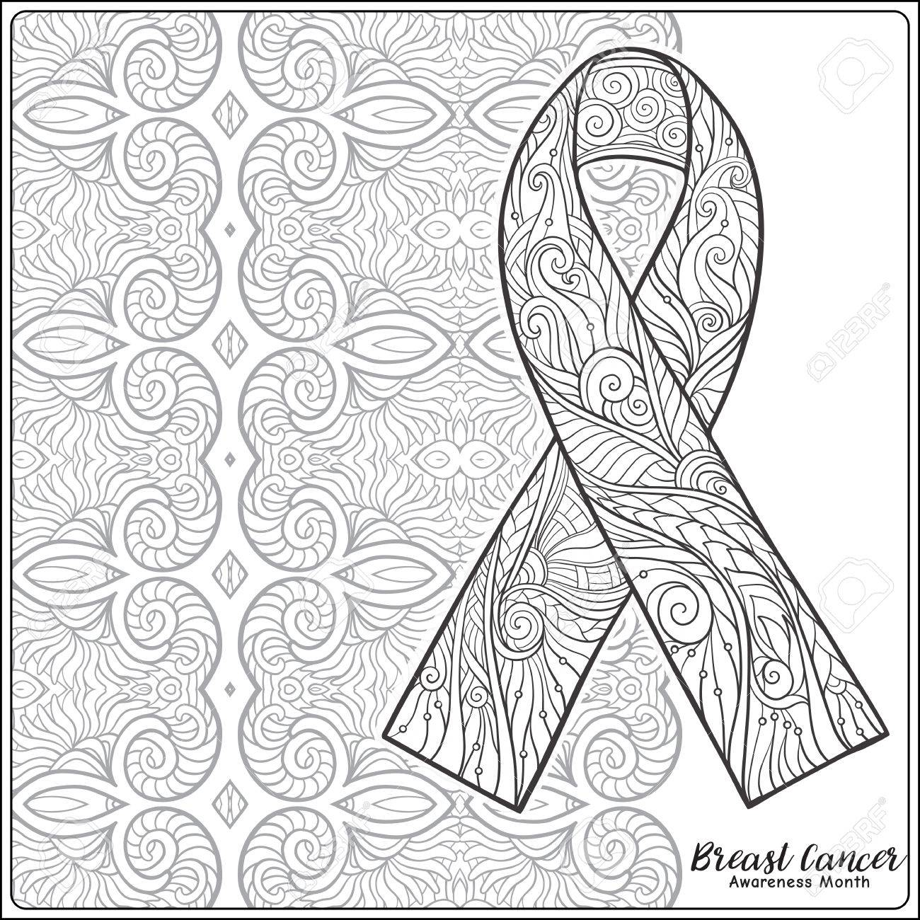 1300x1300 Breast Cancer Awareness Month Decorative Pink Ribbon On Decorative