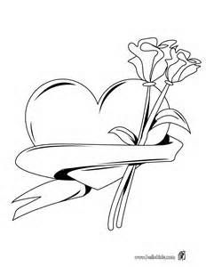 232x300 Hearts And Roses Coloring Pages Pink Roses Diamond Hearts