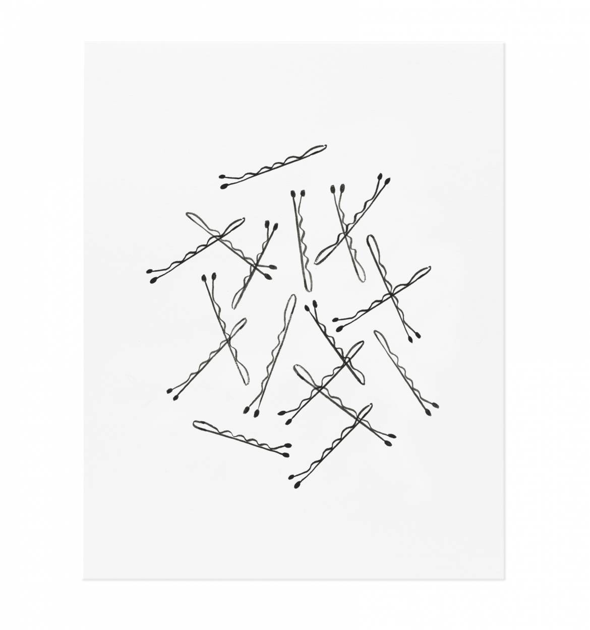 1170x1248 Bobby Pin Art Print By Rifle Paper Co. Made In Usa