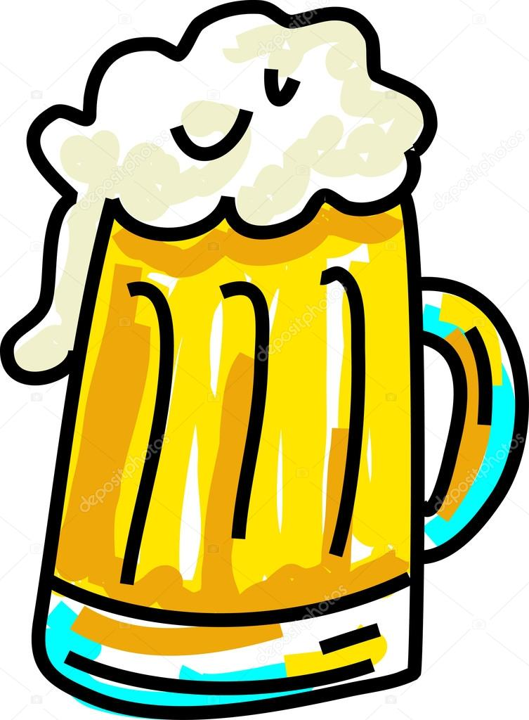 753x1024 Frothy Beer Or Lager Stock Vector Prawny