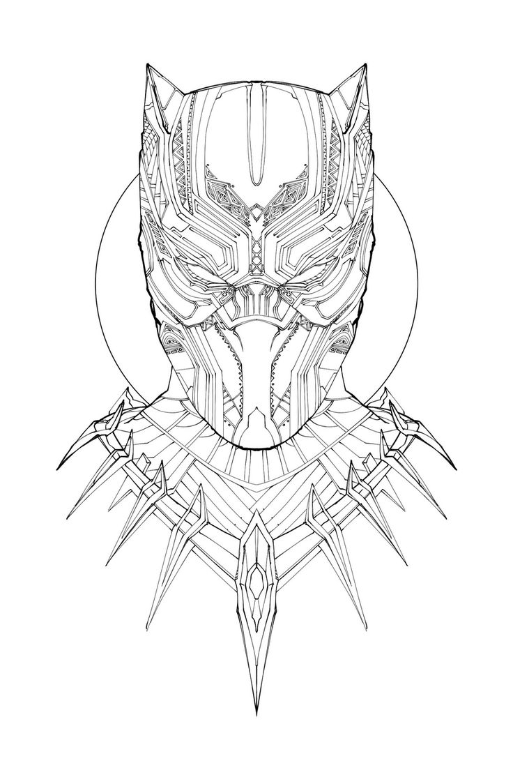 736x1104 Black Panther Drawing Best Black Panther Drawing Ideas