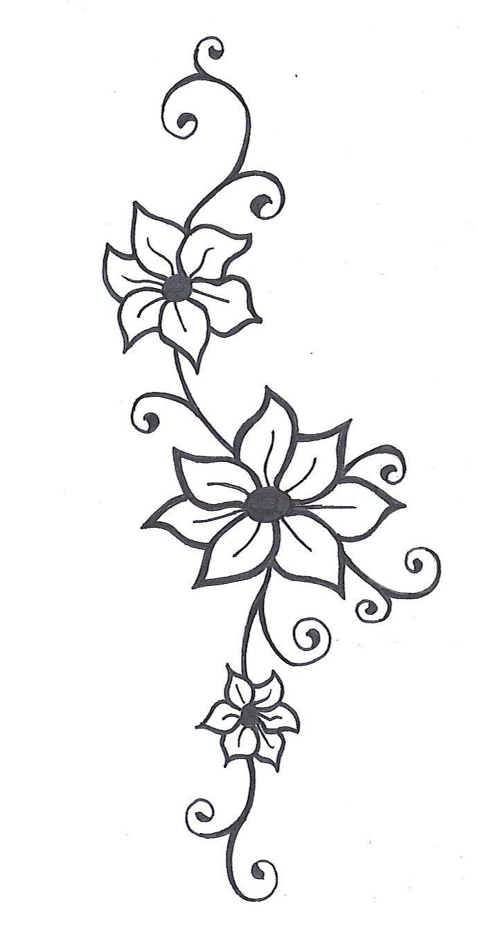 690x1366 Sketching Pic Design Of Flower Best Flower Sketches Ideas