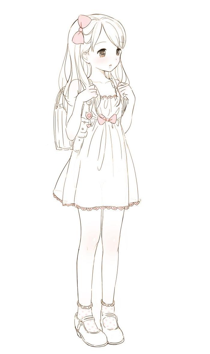 700x1178 Easy Anime Girl Drawings In Pencil Best Manga Girl Drawing