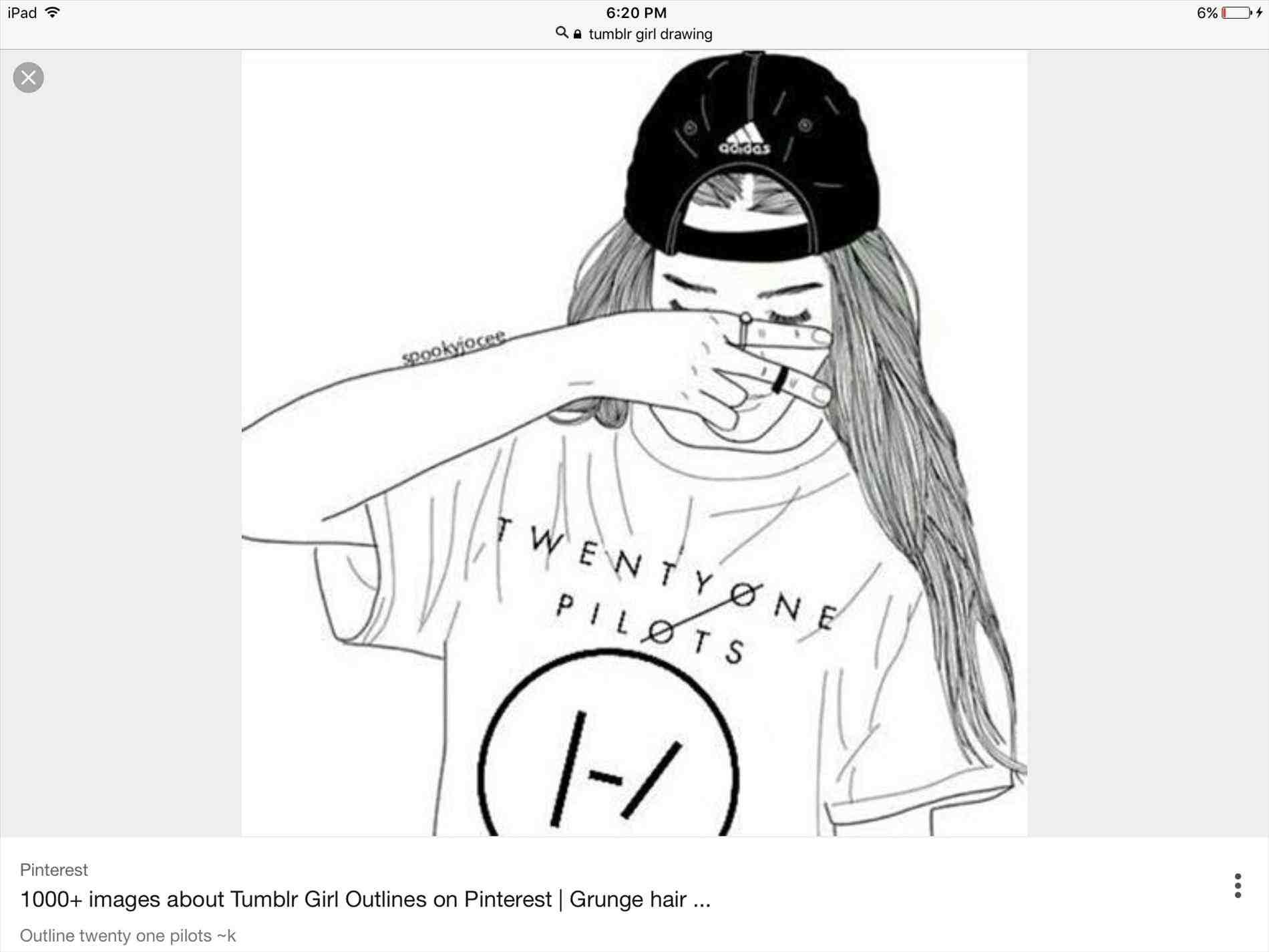 1900x1425 Black Girl Outline Tumblr