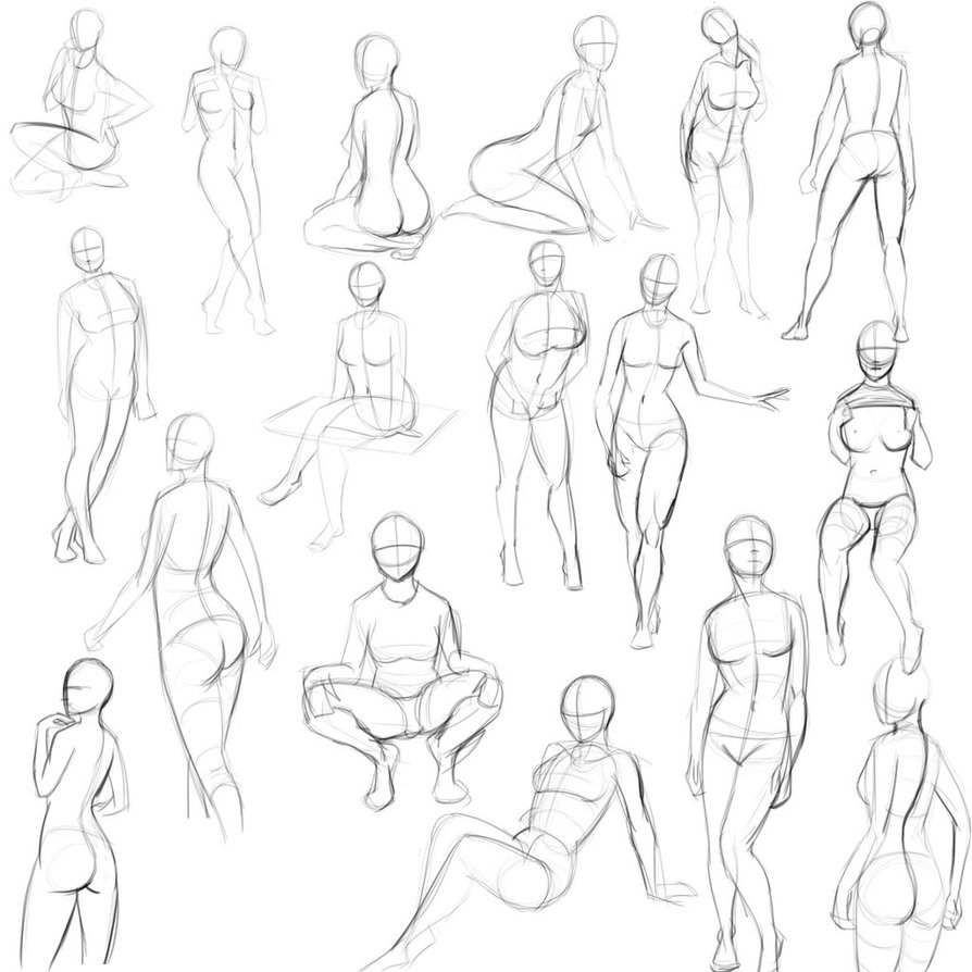 894x894 5 Minute Pinup Pose Sketches By Jay156