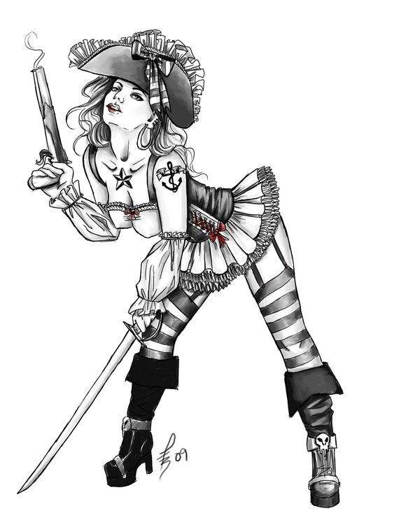 Pinup Girl Drawing at GetDrawings.com | Free for personal use Pinup ...