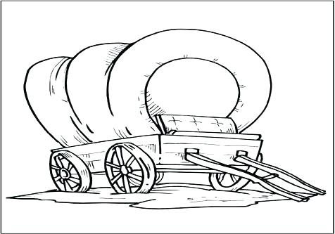 476x333 Covered Wagon Coloring Page Coloring Pages Covered Wagon Page