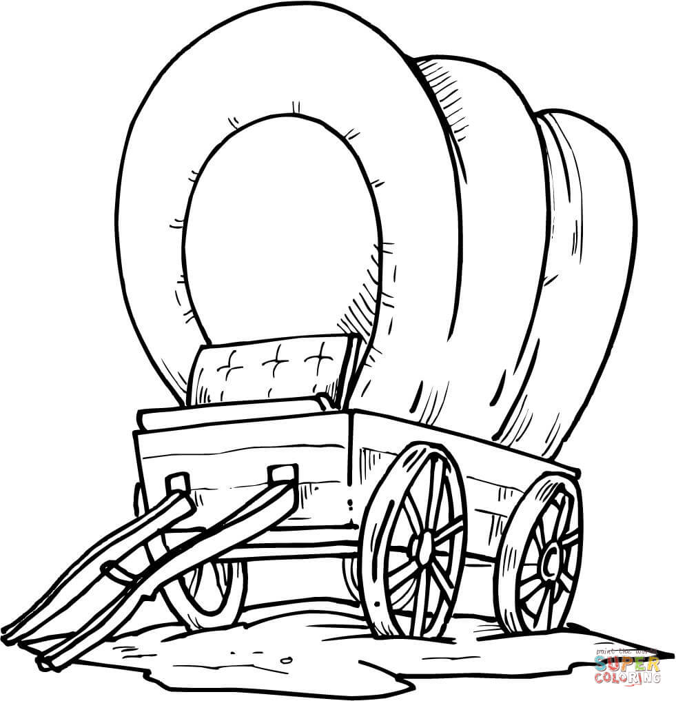 981x1017 Covered Wagon Drawing Page Tags Covered Wagon Drawing Simple