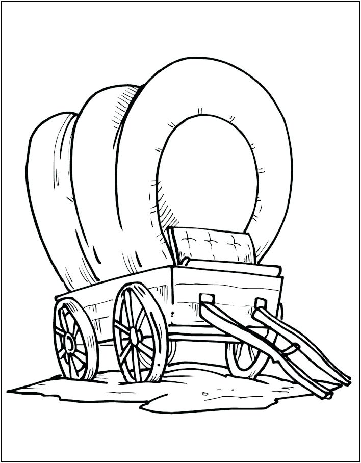 708x908 Covered Wagon Horse Coloring Page Trend Covered Wagon Coloring