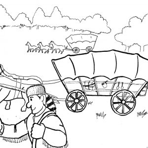 300x300 Pics Of Horse Pulling Wagon Coloring Pages Minecraft Pages Adult