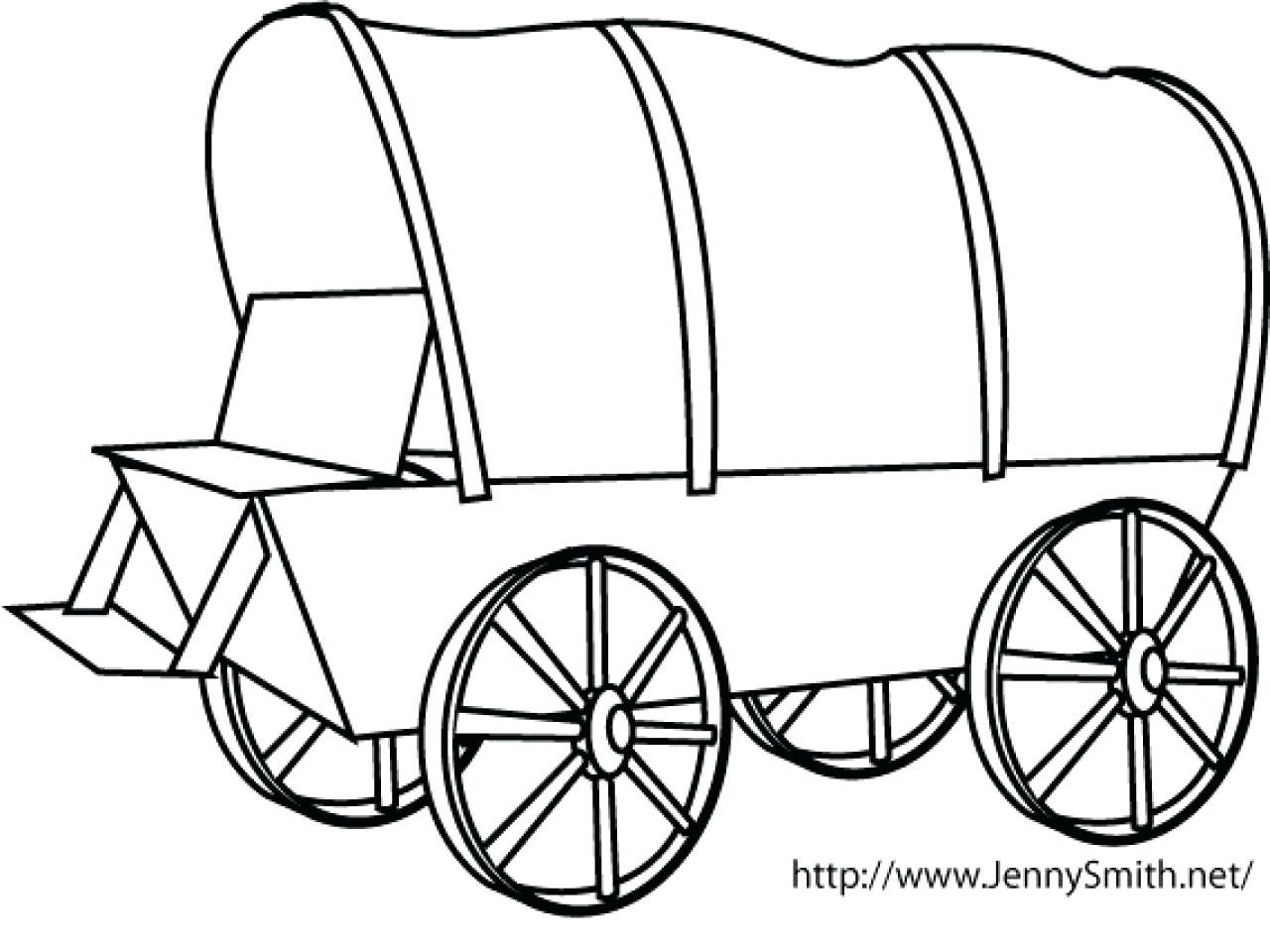 1280x960 Coloring Wagon Coloring Page Covered. Wagon Coloring Page
