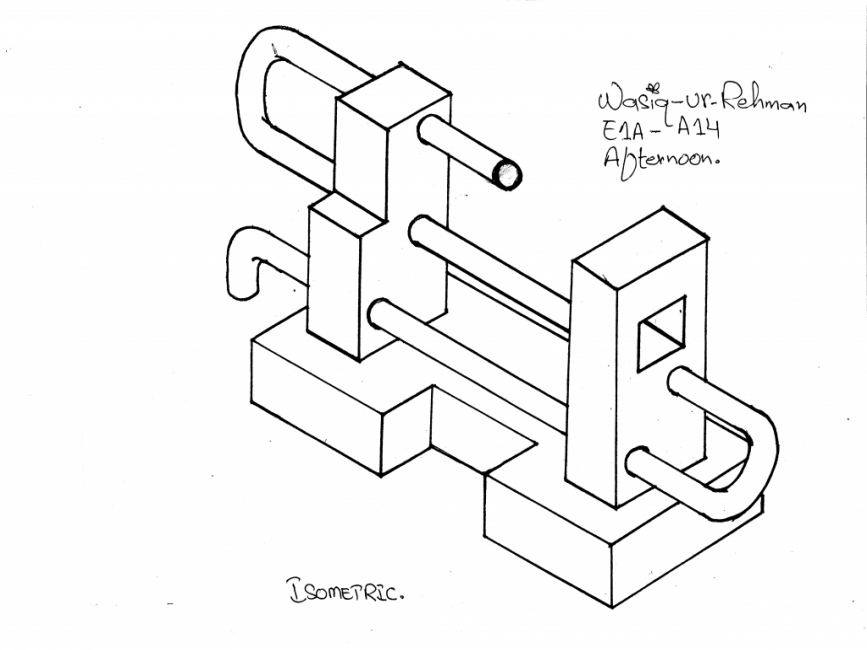 867x650 Isometric And Oblique Curve Pipe Drawing