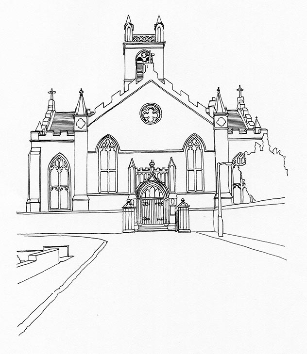 632x730 Beith Parish Church