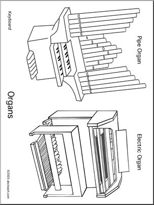304x404 Coloring Page Organs Abcteach