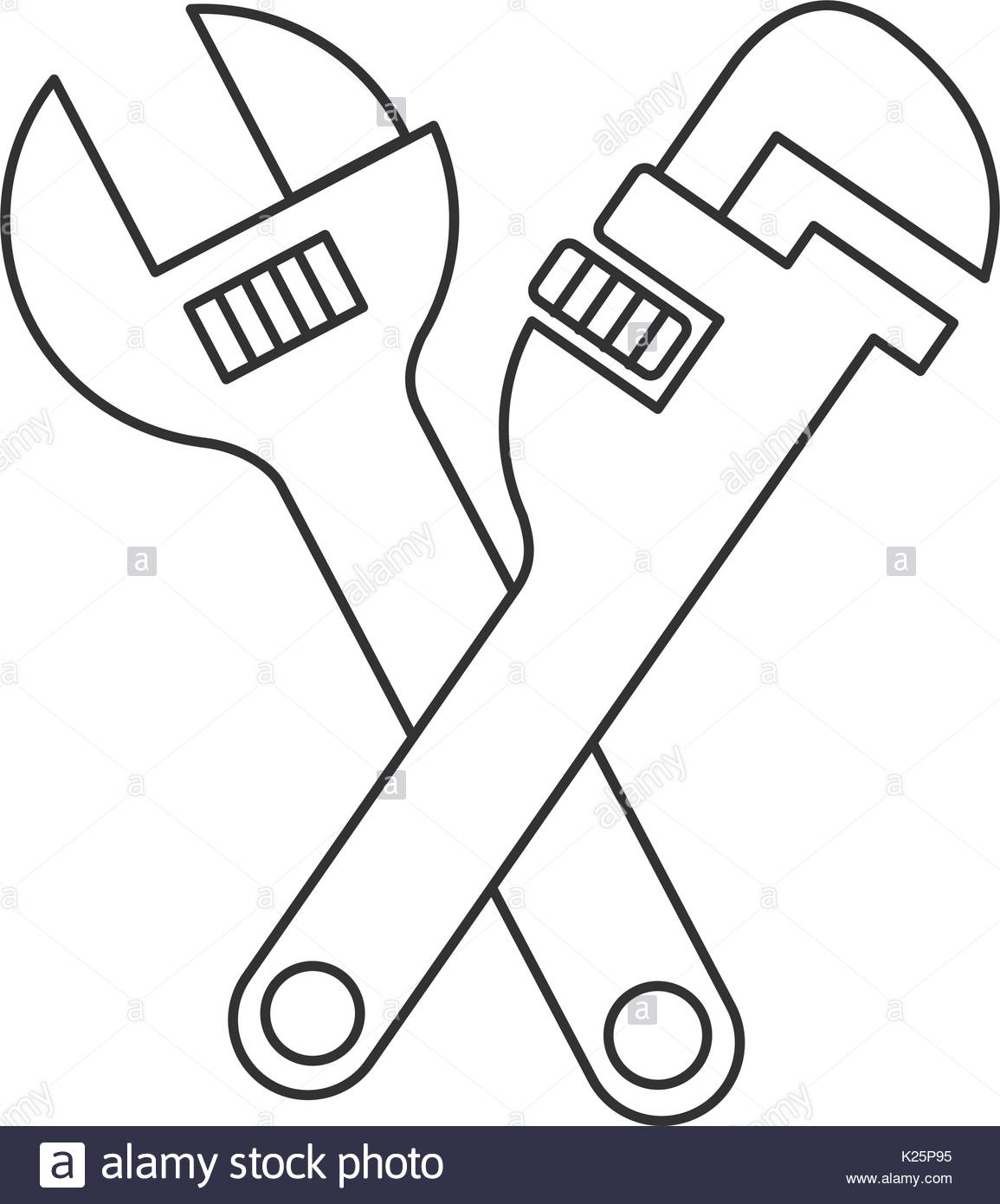 1155x1390 Pipe Wrench Stock Vector Images