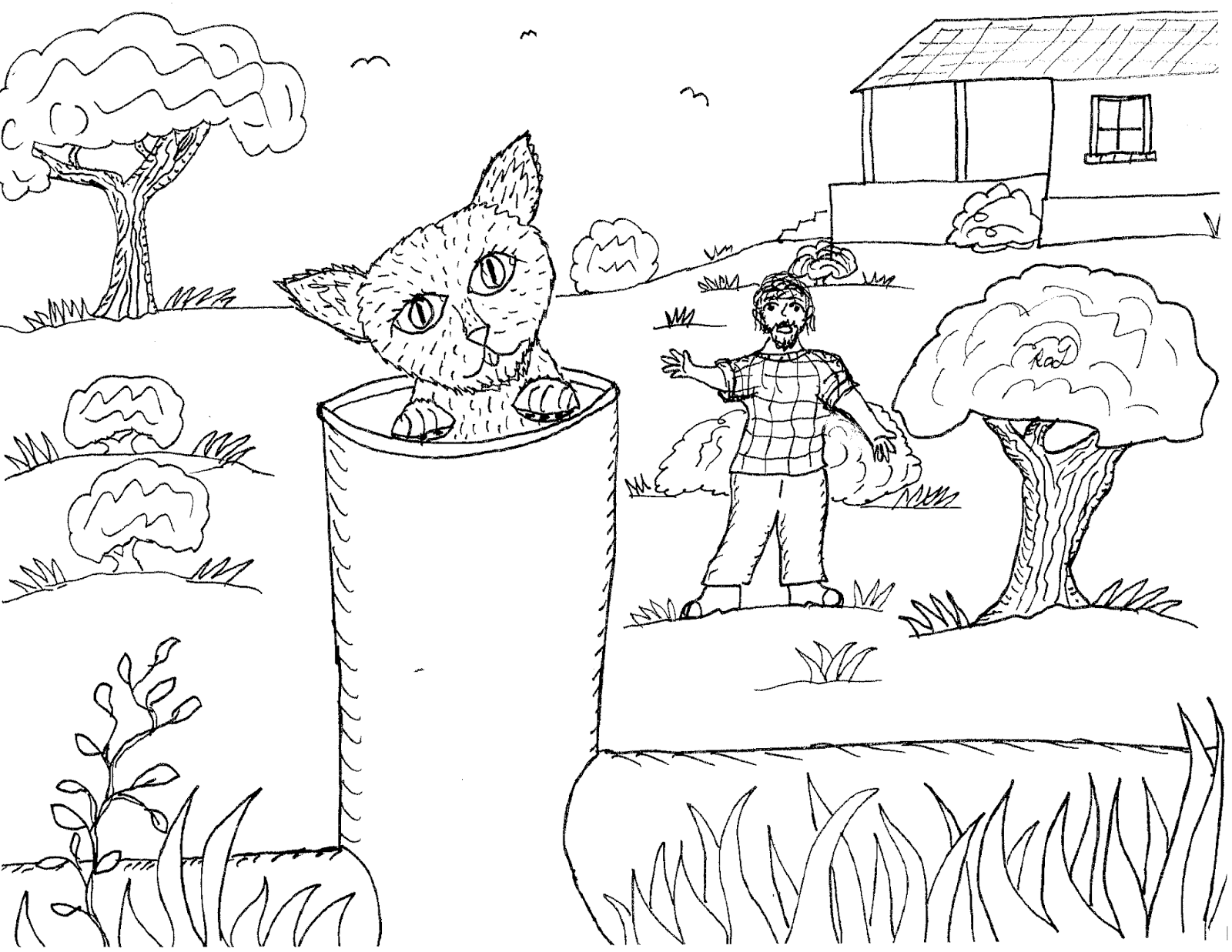 1600x1237 Robin's Great Coloring Pages How Pipes The Cat Got His Name