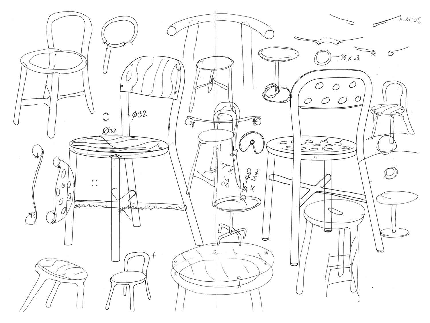 1500x1125 Projects Seating Magis Pipe 04 Sketching Pipes