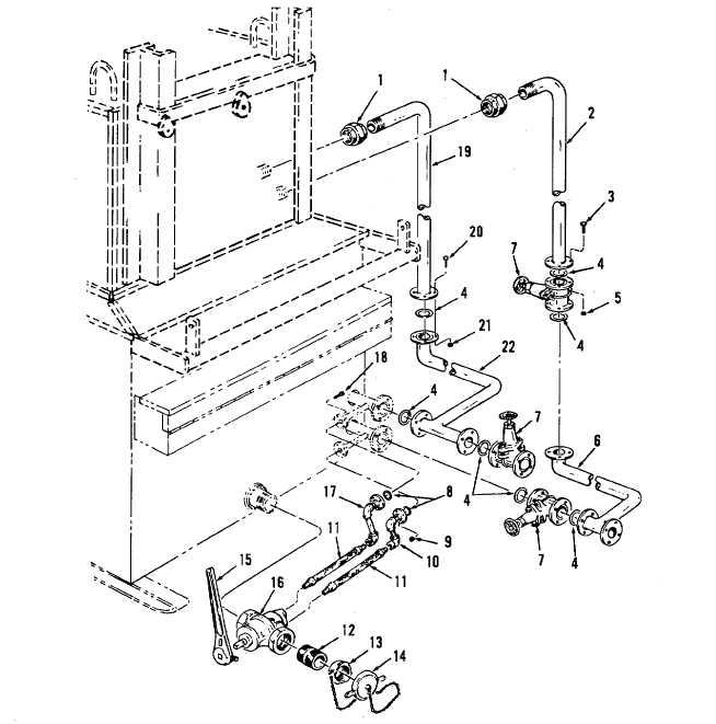 654x661 Figure 2 4. Asphalt Melter Basic Piping And Valve Installation