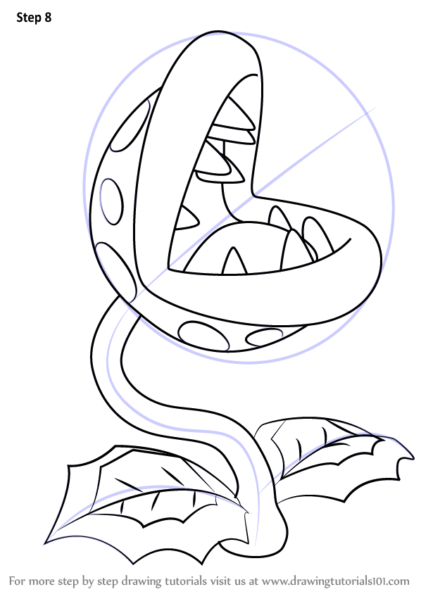 598x844 Learn How To Draw Piranha Plant From Super Mario (Super Mario