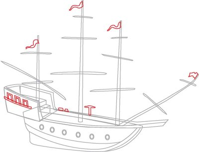 Pirate Boat Drawing