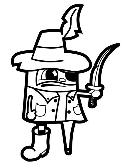 450x556 Create A Vector Pirate Cartoon Character From A Hand Drawn Sketch