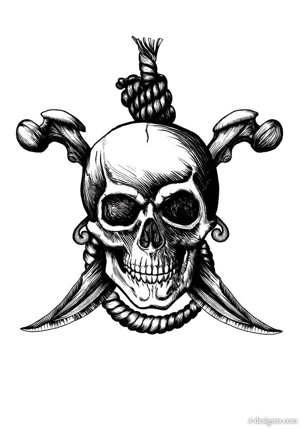 586x834 4 Designer Cartoon Pirate Elements Pattern