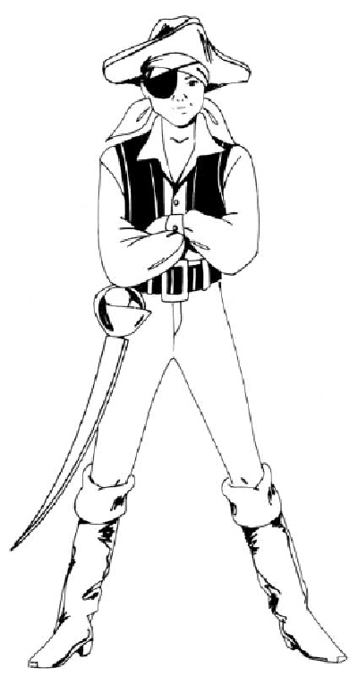 400x755 How To Draw People Boy In A Pirate Costume Howstuffworks