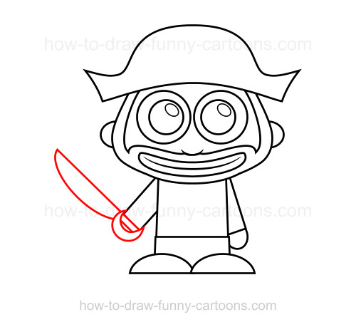 500x459 How To Draw A Pirate