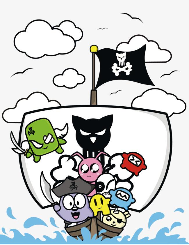 650x841 Vector Cartoon Pirate Ship, Pirate, Pirates, Cartoon Png