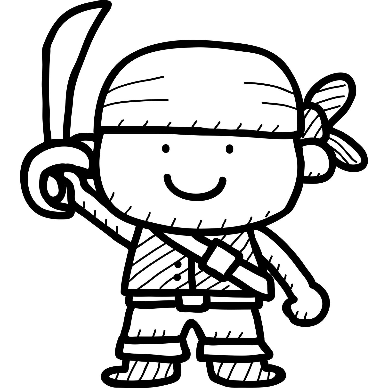 1600x1600 Cartoon Pirate Kids Wall Sticker