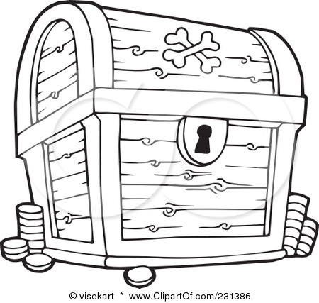450x427 Pirates Treasure Chest Coloring Pages For The Wee Folk