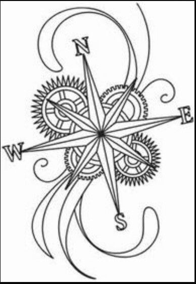 Pirate Compass Drawing At Getdrawings Com Free For Personal Use