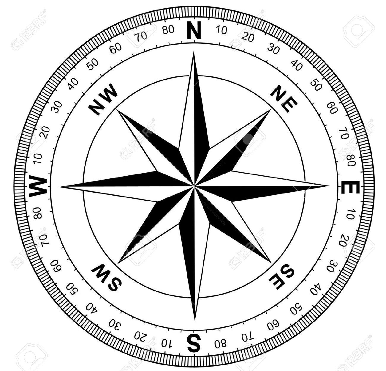 1300x1248 Compass Face Clipart