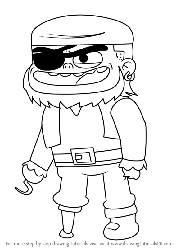 567x800 Learn How To Draw Pirate Jesse From Looped (Looped) Step By Step