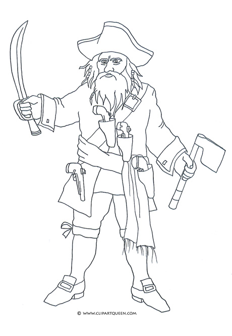 460x664 Pirate Coloring Pages