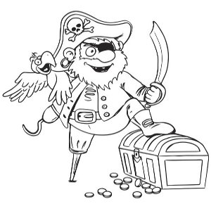 300x300 Wonderful Pirate Clip Art And Coloring Pages For Kids Pirate