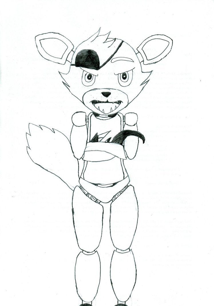 748x1067 Foxy The Pirate Drawing By Hetaliapony