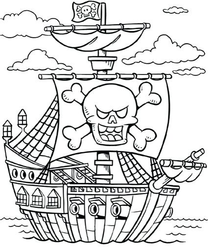 425x510 Pirate Coloring Pages Printable Printable Pirate Coloring Pages
