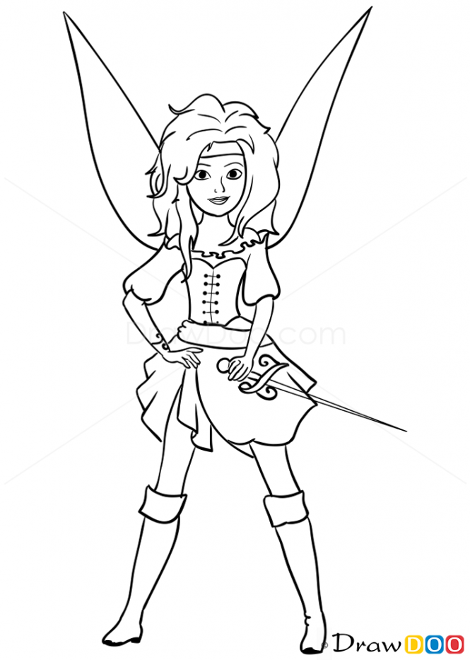 665x933 Pirate Fairy Drawing How To Draw Fairy Pirate, Pirates Hadas
