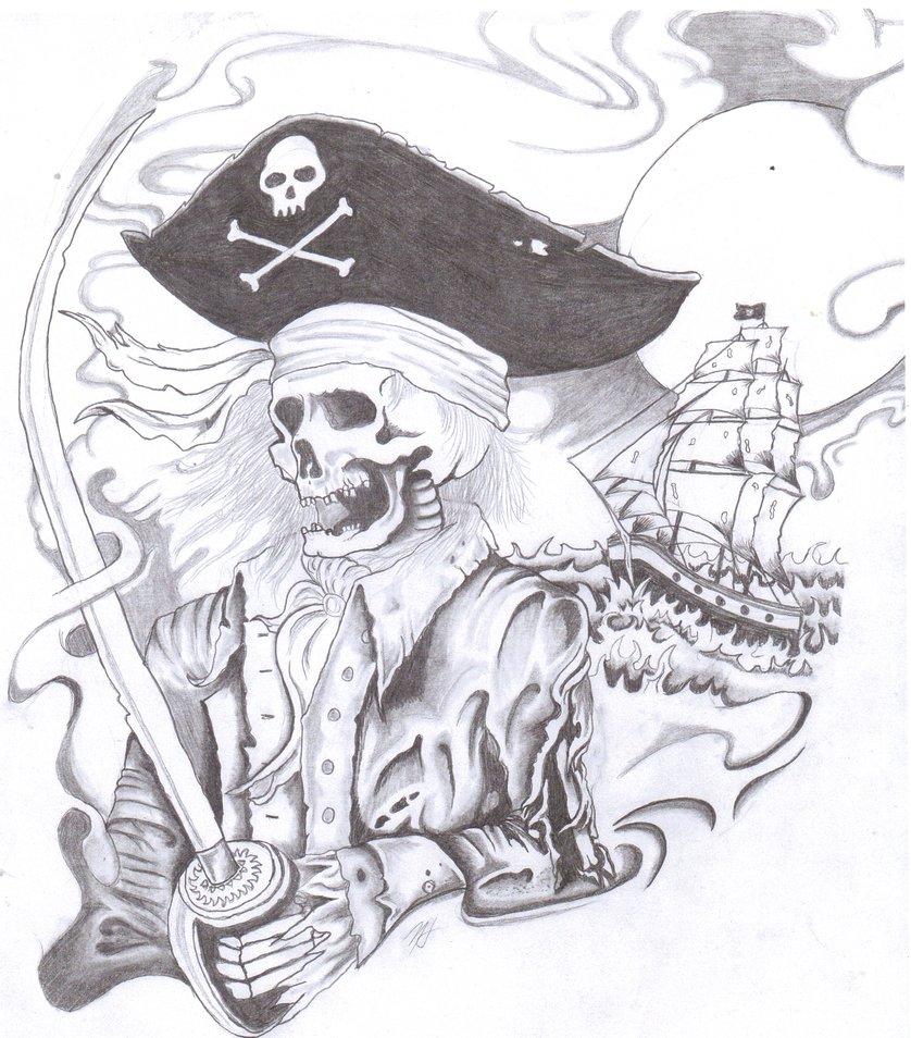 838x954 Pirate Skeleton By Twisterteller