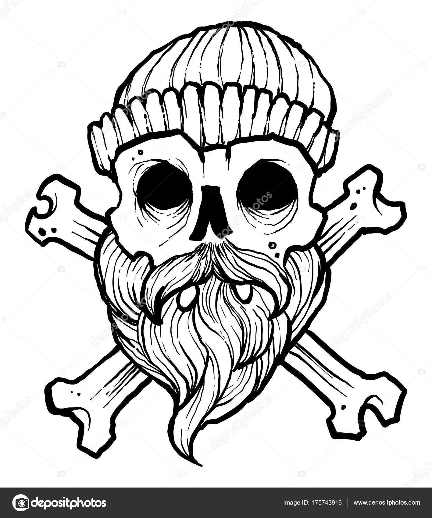1417x1700 Pirate Skul Vector Drawing Stock Illustration Stock Vector