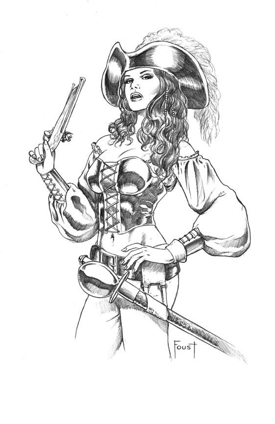 562x864 Pirate Woman By Mitchfoust