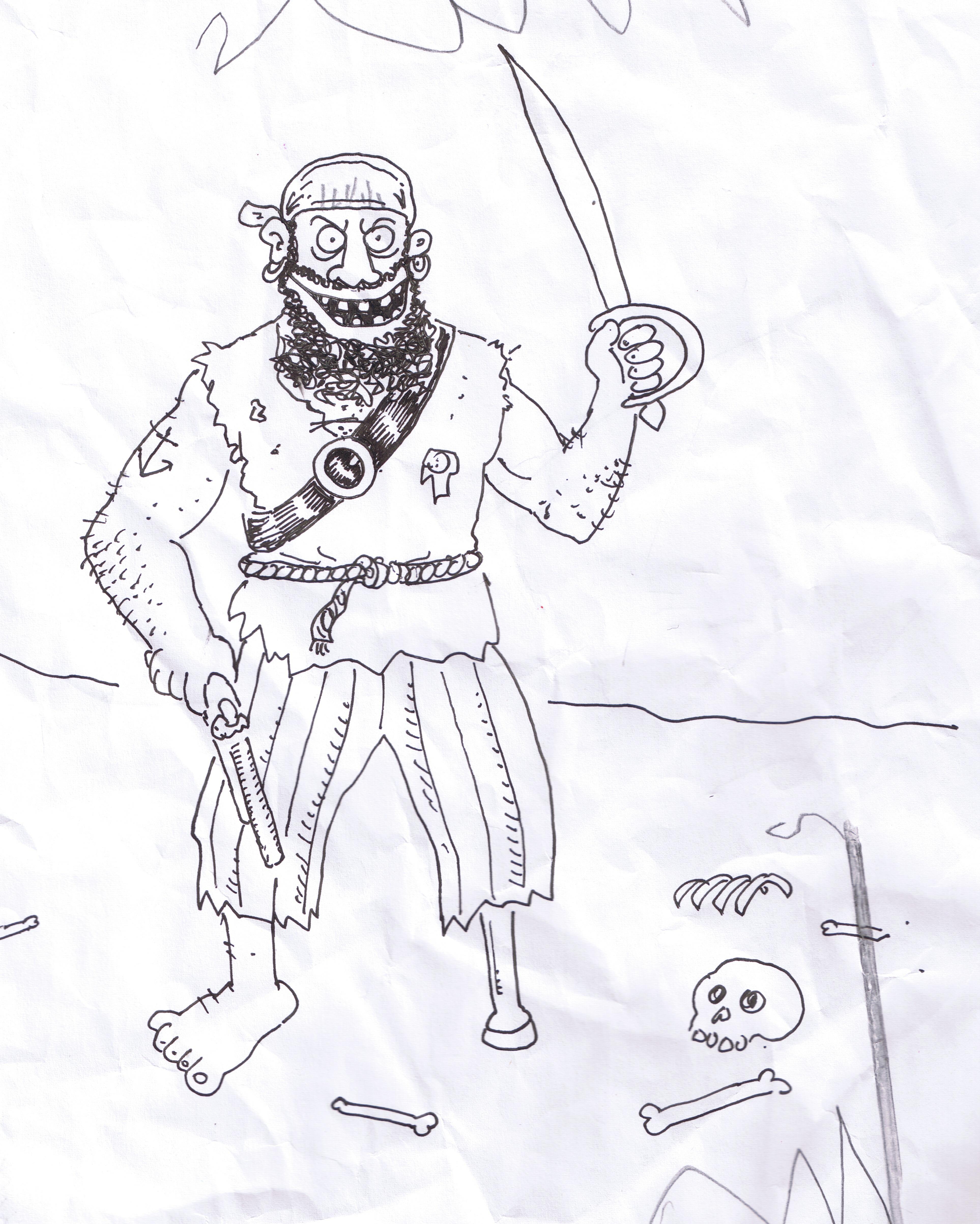 3852x4812 Pirate Drawings