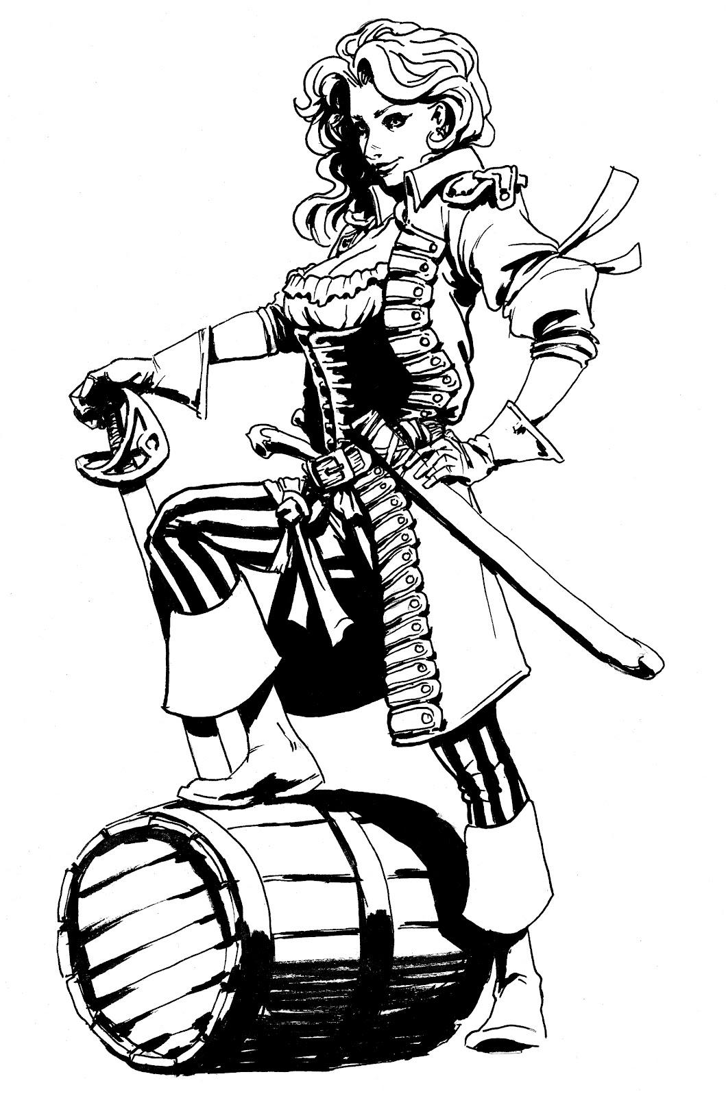 1059x1600 Drawing Of A Pirate Sexy Pirate Women Drawing Pirate Lady