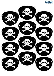 211x298 Pirate Eye Patch Template. Cut It Out In Black Felt, Secure Onto