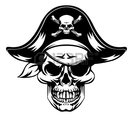 450x396 An Illustration Of A Pirate Skull Wearing A Pirate Captains Hat